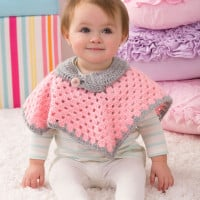 Sweet Baby Poncho ~ Kristin Stoltzfus – Red Heart