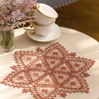 Fairfax Doily ~ Kathryn A. White – Red Heart