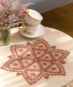 Fairfax Doily ~ Kathryn A. White - Red Heart
