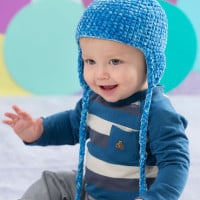 Soft comfort Baby Hat ~ Rebecca J. Venton - Red Heart