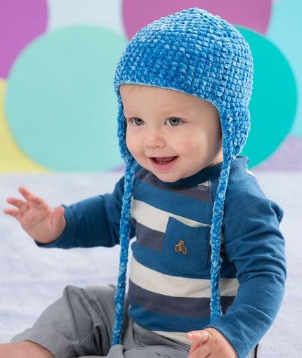 Elizabeth Crochet Hat Pattern For Child : Soft comfort Baby Hat ~ FREE Crochet Pattern