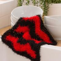 Chevron Dish Scrub ~ Lorene Eppolite – Red Heart