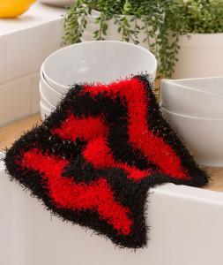 Chevron Dish Scrub ~ Lorene Eppolite - Red Heart