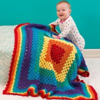 Radiant Rainbow Blanket ~ Jessie Rayot – Red Heart