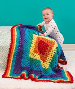 Radiant Rainbow Blanket ~ Jessie Rayot - Red Heart