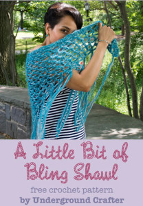 A Little Bit of Bling Shawl ~ Marie Segares - Underground Crafter