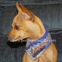 Button Dog Scarf ~ Sara Sach – Posh Pooch Designs