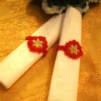 Snowflake Napkin Rings ~ Crochet Parfait