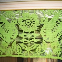 Papel Picado Lace Curtains ~ Crochet Parfait