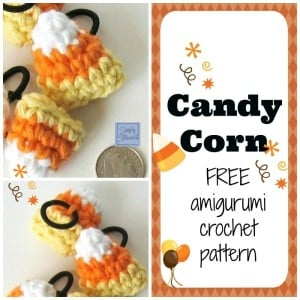 Candy Corn Amigurumi Hair Ties ~ Celina Lane - Simply Collectible
