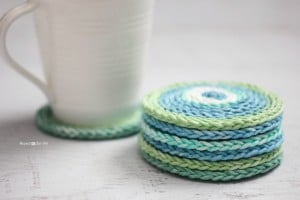 Chain Stitch Coasters ~ Repeat Crafter Me