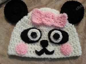 Chibi Baby Girl Panda Beanie Crochet Hat ~ Niki Wyre aka cRAfterChick.com