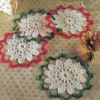 Christmas Coasters Set ~ MomsLoveOfCrochet
