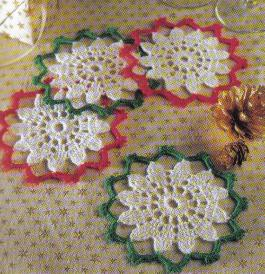 Christmas Coasters Set ~ MomsLoveOfCrochet