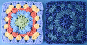 Circle with Popcorn Granny Square ~ Marie Segares - Underground Crafter