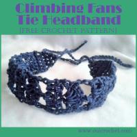 Climbing Fans Tie Headband ~ Oui Crochet
