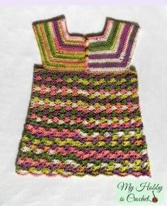 Crochet Top Iris, Child-Size - 3-5 Years ~ My Hobby is Crochet