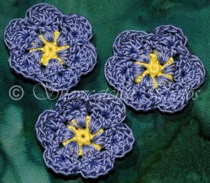 Blue Flax Flower Snowflake ~ Snowcatcher