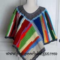 Scrap Happy Poncho ~ Sara Sach - Posh Pooch Designs