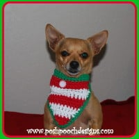 Christmas Candy Dog Bandanna ~ Sara Sach - Posh Pooch Designs