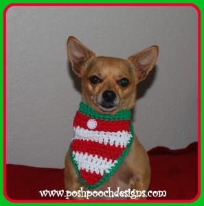 Christmas Candy Dog Bandanna ~ Sara Sach - Posh Pooch Designs