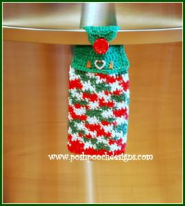 Christmas Candy Dish Towel ~ Sara Sach - Posh Pooch Designs