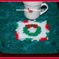 Christmas Wreath Coaster ~ Sara Sach – Posh Pooch Designs