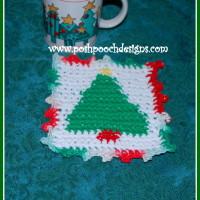 Christmas Tree Coaster ~ Sara Sach – Posh Pooch Designs