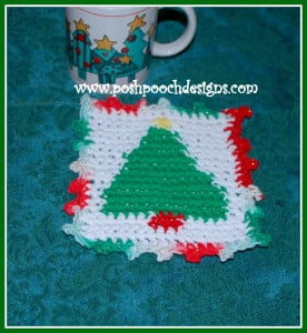 Christmas Tree Coaster ~ Sara Sach - Posh Pooch Designs