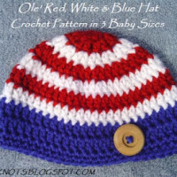 The Ole' Red, White and Blue Hat in 3 Baby Sizes ~ EyeLoveKnots