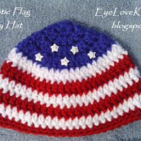 Patriotic Flag Hat in 3 Baby Sizes ~ EyeLoveKnots