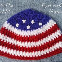 Patriotic Flag Hat in 3 Baby Sizes ~ EyeLoveKnots