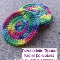 Psychedelic Round Facial Scrubbies ~ EyeLoveKnots