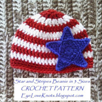 Star and Stripes Beanie in 3 Baby Sizes ~ EyeLoveKnots