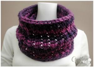 Chunky Crochet Cowl ~ Lorene Eppolite - Cre8tion Crochet