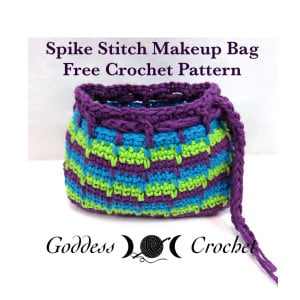 Spike Stitch Makeup Bag ~ Goddess Crochet