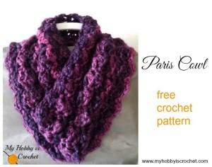 Paris Cowl ~ My Hobby is Crochet
