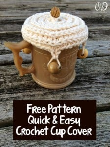 Quick and Easy Crochet Cup Cover ~ Oombawka Design