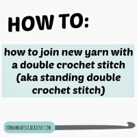 How to Join New Yarn with a Standing Double Crochet Stitch ~ Oombawka Design