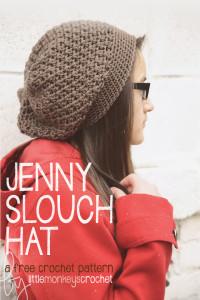 The Jenny Slouch Hat ~ Rebecca Langford - Little Monkeys Crochet