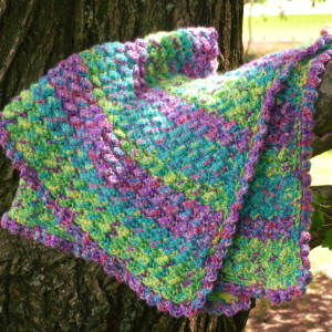 Jungle Rhythm Baby Blanket ~ Crochet Spot
