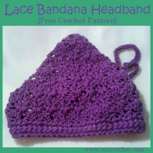 Lace Bandana Headband ~ Oui Crochet