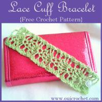 Lace Cuff Bracelet ~ Oui Crochet