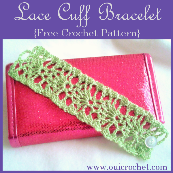 Lace Cuff Bracelet Free Crochet Pattern