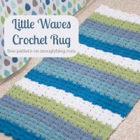 Little Waves Crochet Rug ~ Moogly