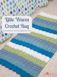 Little Waves Crochet Rug ~ Moogly