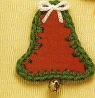 Christmas Bell Magnet ~ MomsLoveOfCrochet