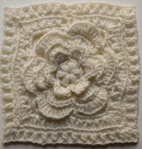 Free Crochet Patterns For Flower Squares : Mayapple Flower Square ~ FREE Crochet Pattern