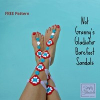 Not Your Granny's Gladiator Barefoot Sandals ~ Celina Lane – Simply Collectible