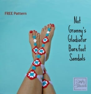Not Your Granny's Gladiator Barefoot Sandals ~ Celina Lane - Simply Collectible